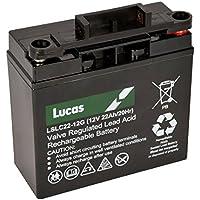 LSLC22-12G - 22AH Lucas Deep Cycle AGM Golf Trolley Battery