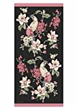 SNAAN Luxury Parrots Printed Bath Towel (Black)