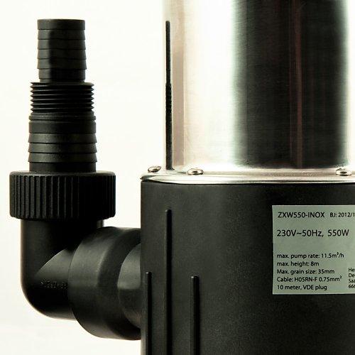 Tauchpumpe-Edelstahl-Schmutzwasserpumpe-Teichpumpe-Pumpe-Schwimmschalter-11500-lh-550-Watt