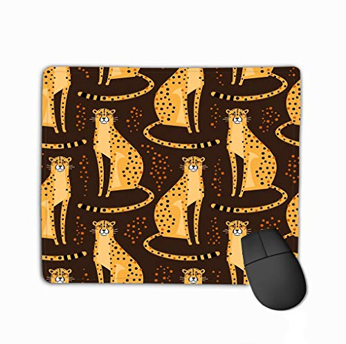 Mouse pad seamless pattern cheetahs leopards repeated exotic wild cats brown background vector illustration seamless pattern steelseries keyboard Gold Wild Cheetah