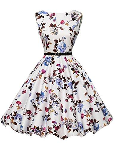 50s vintage retro rockabilly kleid blumenkleid damen festliches kleid petticoat kleid Größe 3XL CL6086-22