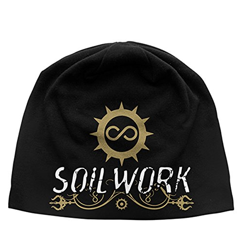 SOILWORK The Living Infinite Discharge Beanie Hat/Berretto nero taglia unica