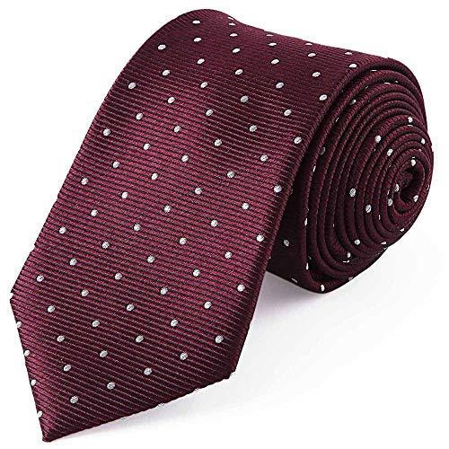 ZSRHH-Neckchiefs Halstücher Die Krawatten der Textilmänner Blumen ideal für Hochzeiten Missionen Tänze Bräutigam Groomsmen Gifts Dot Silk 7.5cm Wide (Farbe : Rot) -
