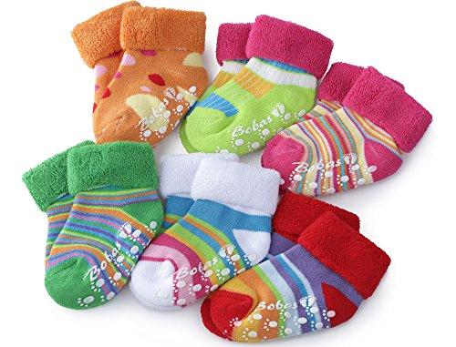 Baby Mädchen und Jungen Babysocken 6er Pack BS-423, Multi-3, 10-11cm