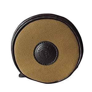 Tourbon Canvas and Leather Single Fly Fishing Reel Carry Case Pouch by Tourbon