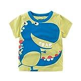 Babykleidung Tops, Sunday Sommer Infant Baby Kinder Jungen Mädchen T Shirts Cartoon Print Tops Outfits Kleidung Karikatur Druck Kurzarm Tee (Hellgrün, Alter: 5J)