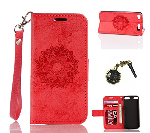 PU Silikon Schutzhülle Handyhülle Painted pc case cover hülle Handy-Fall-Haut Shell Abdeckungen für Apple iPod Touch 5 / Touch 6+Staubstecker (6SS) (Ipod 5 Blau Silikon Fällen)