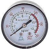 Redondo 0-180 psi 13mm 1/4BSP Diámetro Del Hilo Reloj comparador Aire Manómetro