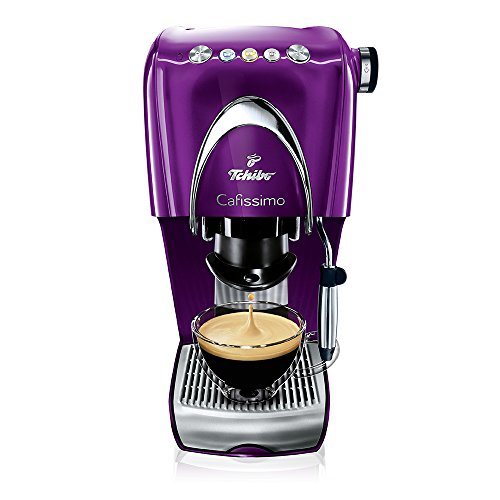 Tchibo Cafissimo Classic Kapselmaschine (die Kaffeemaschine für aromatischen Filter-Kaffee, Espresso, Caffé Crema oder Tee) aubergine