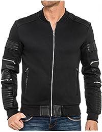 BLZ jeans - Gilet sweat noir avec fantaisies