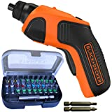 Compact Black & Decker Cordless Screwdriver with 33 Bits 3.6 V Lithium Rechargable Battery