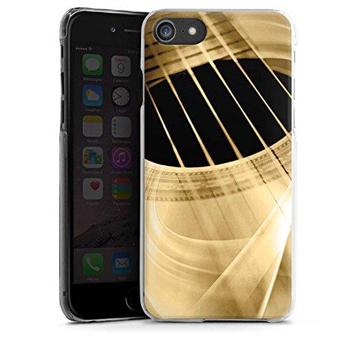 Apple iPhone 7 Silikon Hülle Case Schutzhülle Gitarre Instrument Saiten Hard Case transparent
