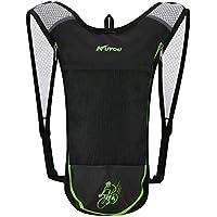 Paquete de hidratación Kuyou, mochila de hombro ligero de hidratación para correr, caminar, andar en bicicleta, acampar, etc. (verde)