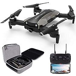 le idea IDEA 20 - Drone GPS avec caméra 4K, transmission en direct 5GHz WiFi FPV, caméra grand angle pour électronique à cardan de 120 °,Quadricoptère repliable à drone pour débutant, sac de transport