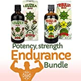 Tribulus Terrestris & Leuzea Bundle - Potency, Strength and Endurance; Bulgarian Tribulus; Muscle Fuel Anabolic Lean Muscle & Mass & Strength Gain - Suitable for Vegetarians & Vegans