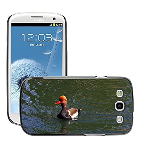 Just Phone Cover Hard plastica indietro Case Custodie Cover pelle protettiva Per // M00139732 Pochard Red Headed Pochard Canard // Samsung Galaxy S3 S III SIII i9300