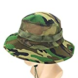 UJUNAOR Unisex Einstellbare Eimer Hüte Camouflage Boonie Cap Nepalesische Kappe Armee Fangkappe Outdoor Sonnenschutz Jagd Hut(E)
