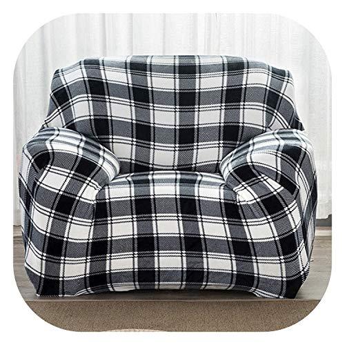 e, klassisch, kariert, Bedruckt, Schwarz/Weiß, 1 Stück Plüsch Stoff Couch-Überzug Stretch Sofa Schonbezug 1/2/3/4 Sitzer, Lattice, Single Seater Sofa ()