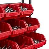 Werkzeugwand Werkstattwand + Stapelboxen + Werkzeughalterung Lochwand Halter Hakensortiment Werkstatt - 3