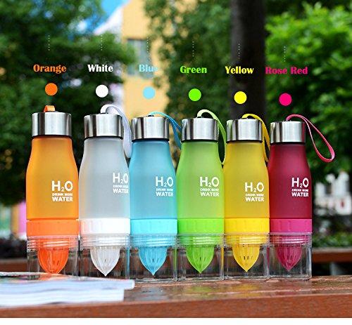 650ml H2O Früchte,-Ei Wasser Flasche Create Your Own–Natürlich nach Honig verwöhnt Wasser, Saft, Eistee, Limonade & Sparkling Getränke rose