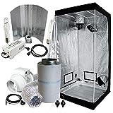 Cultivalley Growbox Komplett-Set 100x100x200cm, 400W NDL MH Wuchs & HPS Blüte Bausatz Plug & Play, 160m³ Standard Klimaset mit AKF