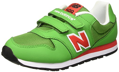 New Balance Nbkv500gdg, Scarpe da Ginnastica Unisex – Bambini Verde (Green Red)