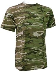 Anvil Herren T-Shirt Camouflage (Medium) (Camouflage Grün)