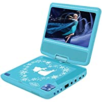 Disney Frozen - Frozen Lector DVD Portátil con Puerto USB Y Mando, Azul (Lexibook DVDP6FZ)