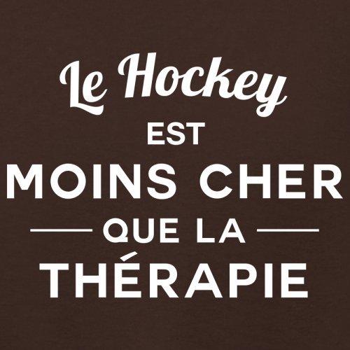 Le hockey est moins cher que la thérapie - Femme T-Shirt - 14 couleur Marron Foncé