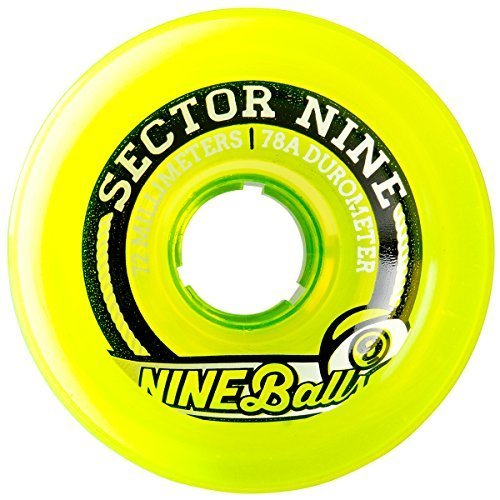 sector-9-top-shelf-nine-balls-skateboard-wheel-yellow-72mm-75a-by-sector-9
