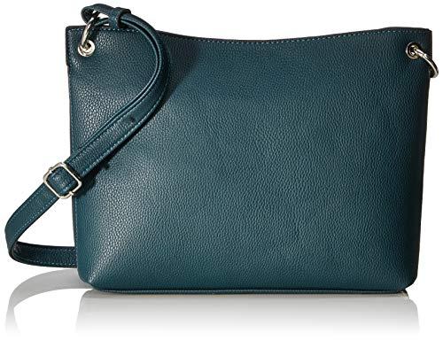 TOM TAILOR Umhängetasche Damen Effie, Grün (Petrol), 30x22x8.5 cm, TOM TAILOR Handtaschen, Taschen für Damen, klein