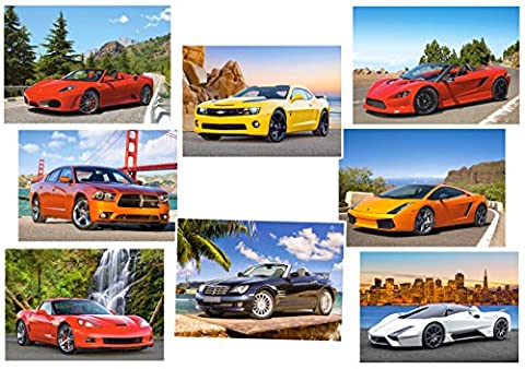 1 Stück: Mini Puzzle / Minipuzzle 80 Teile - Autos