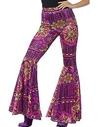 Pantalones de Pata de Elefante Setenta - S/M (ES 36 - 42)   Pantalones de Campana Estampado Floral   Outfit Hippy   Pantalones Acampanados Años 72