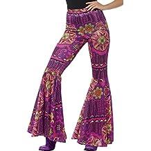 70er Jahre Leggings Flower Power Stretchhose Stretch Hippiehose Hippie Damenhose