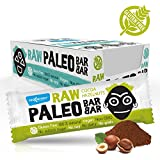 Maxsport Nutrition Raw Paleo Vegan Glutenfree Raw Bar with Chia seeds, Plant Protein and Coconut Oil - 50g - 20 pack (Hazelnut Cocoa)