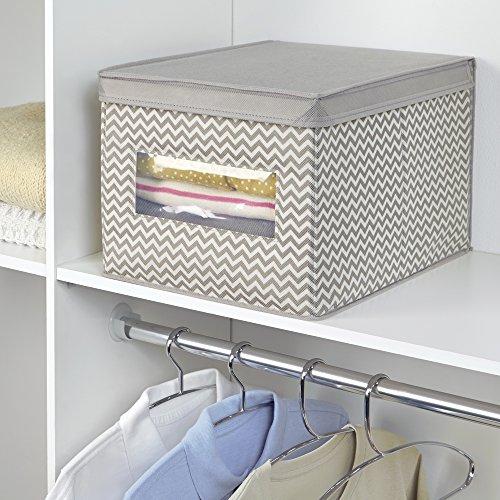 Mdesign organizer armadio in tessuto di polipropilene traspirante elegante scatola for Scatole ikea per armadi