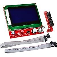 KOOKYE LCD 12864 - Modulo con display smart graphic per controller con adattatore di connessione & cavo per kit stampante RepRap RAMPS 1.4 3D Arduino Mega 2560 R3 Shield