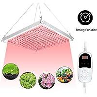 Roleadro Lamparas Led Cultivo con Temporizador 75W Grow Light para Plantas Cultivo Indoor Hidropónica Flores y Planta de Semillero Cultivo