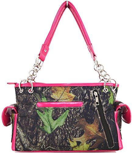 Blancho Biancheria da letto delle donne [Ala Croce] PU Leather Bag Set Elegante Portafoglio Hanbag Comobo Fashion Bag fucsia Handbag-Fuchsia