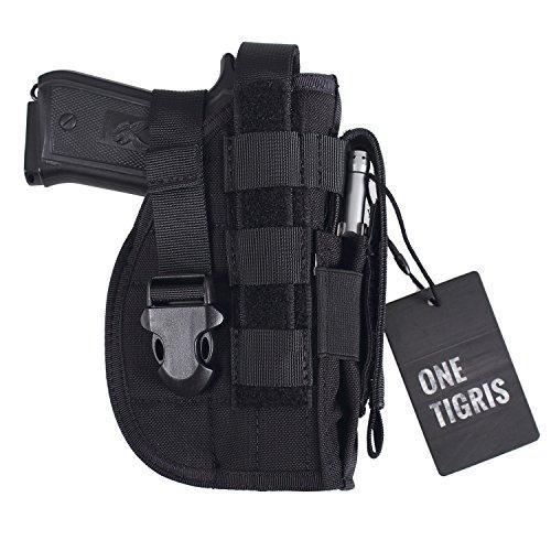 OneTigris-Taktische-Molle-Modular-Pistolenholster-mit-Magazintasche-fr-Rechtsschtzen-1911-45-92-96-Glock-Schwarz