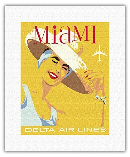 miami-floride-delta-air-lines-affiche-ancienne-vintage-companie-arienne-poster-aviation-c1960s-beaux