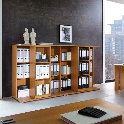 Büromöbel Schieberegal »CARG« Buche Nachbildung, 228cm