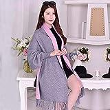 Frauen-Winter-Schal Schal Schal mit doppeltem Verwendungszweck weiblichen Mantel Mantel mit Ärmeln Herbst und Winter Verdickung übergroßen wilden Hochzeitskleid (Farbe: Rot) Schal wickeln warme dicke