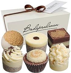 Idea Regalo - BRUBAKER Cosmetics Set bombe da bagno 'Mousse au chocolat' Set da 6 pezzi fatti a mano e vegane