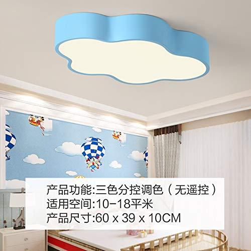 Nube Weiß Kinder Haus Decke Licht Kind Mädchen Prinzessin bezaubernde Kinder Persönlichkeit Kreative Schlafzimmer LED Lichter Blaue Wolke, große Drei, Farbunterabschnitt