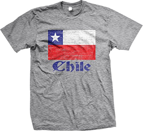 NOFO Clothing Herren T-Shirt Co Flag of Chile, Chilenische Flagge - - X-Groß -