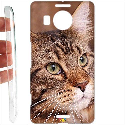 Tuttoinunclick custodia cover rigida per microsoft nokia lumia 950 xl - 375 gatto