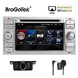 Autoradio doppio DIN da 7 pollici, unità Android 8.1, radio DAB, navigatore satellitare GPS, WiFi, Bluetooth, lettore stereo CD DVD per Ford Fiesta 2005, Kuga , S-Max , autoradio