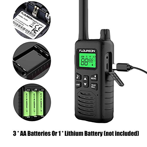 Zoom IMG-3 floureon 16ch ricetrasmittente 2x walkie