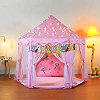 Yoobe Hexagon Princess Castle Play Tent Indoor for Kids Gift ...